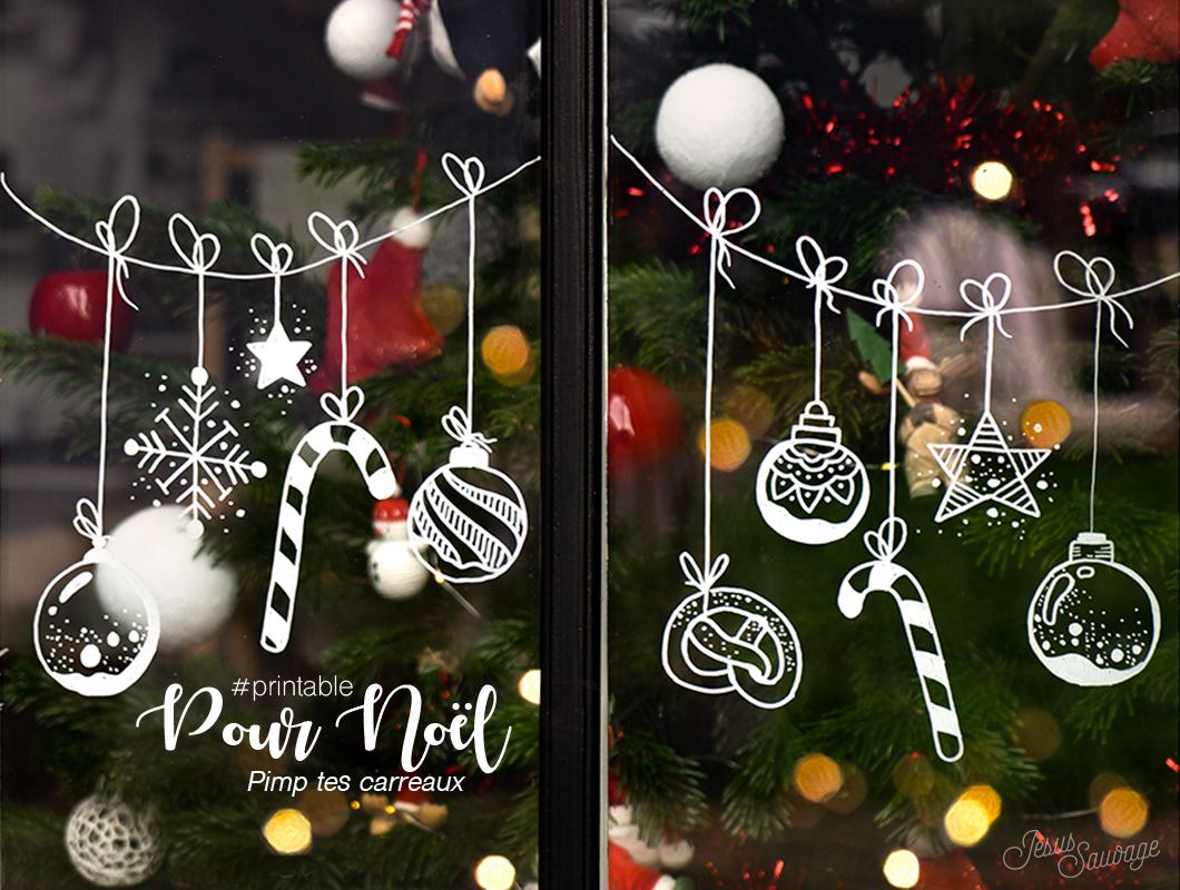 Deco De Noel Lumineuse Pour Fenetre pour noël, pimp' tes fenêtres ! #printable - jesus-sauvage